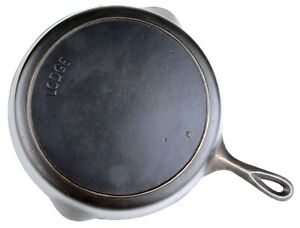 Vintage-Arc-logo-Lodge-No-9-Cast-Iron-Skillet-Restored-Condition