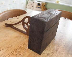 Shelf-Industrial-Reclaimed-Wood-Chunky-Ornate-Metal-Bracket-LARGE-HEAVY-WOOD