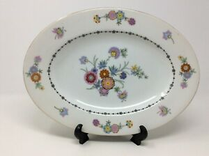 Vintage-Floral-China-Platter-Wedding-Dining-Serving-Phoenix-China-Czechoslovakia