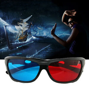 5x-Black-Frame-Red-Blue-3D-Glasses-For-Dimensional-Anaglyph-Movie-Game-DVD-CIT