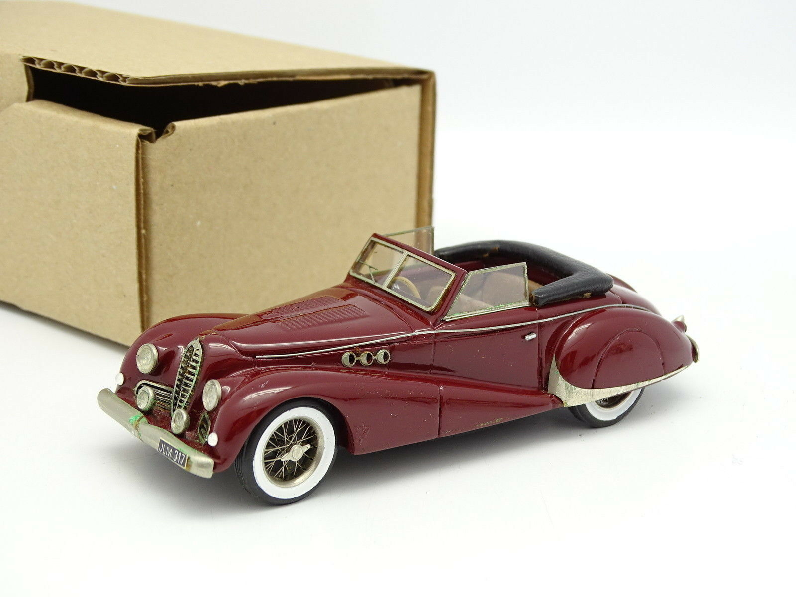 Ma Collection Brianza Résine  - Delahaye  MS Cabriolet Antem 1947 Rouge