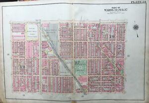 Details about ORIGINAL 1922 G.W. BROMLEY. PHILADELPHIA, PA, BAKER BOWL  STADIUM, PLAT ATLAS MAP