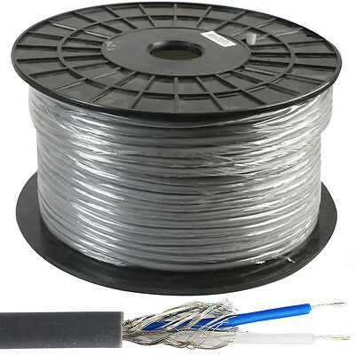 19m –2 Core DMX Lighting Slave Cable Reel/Drum– Shielded Lead Twisted Pair Stage