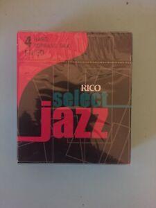 Industrieux 1 Boîte De 10 Rico Select Jazz Anches Soprano Sax 4-dur (4 H) A Déposé De Nouvelles-afficher Le Titre D'origine
