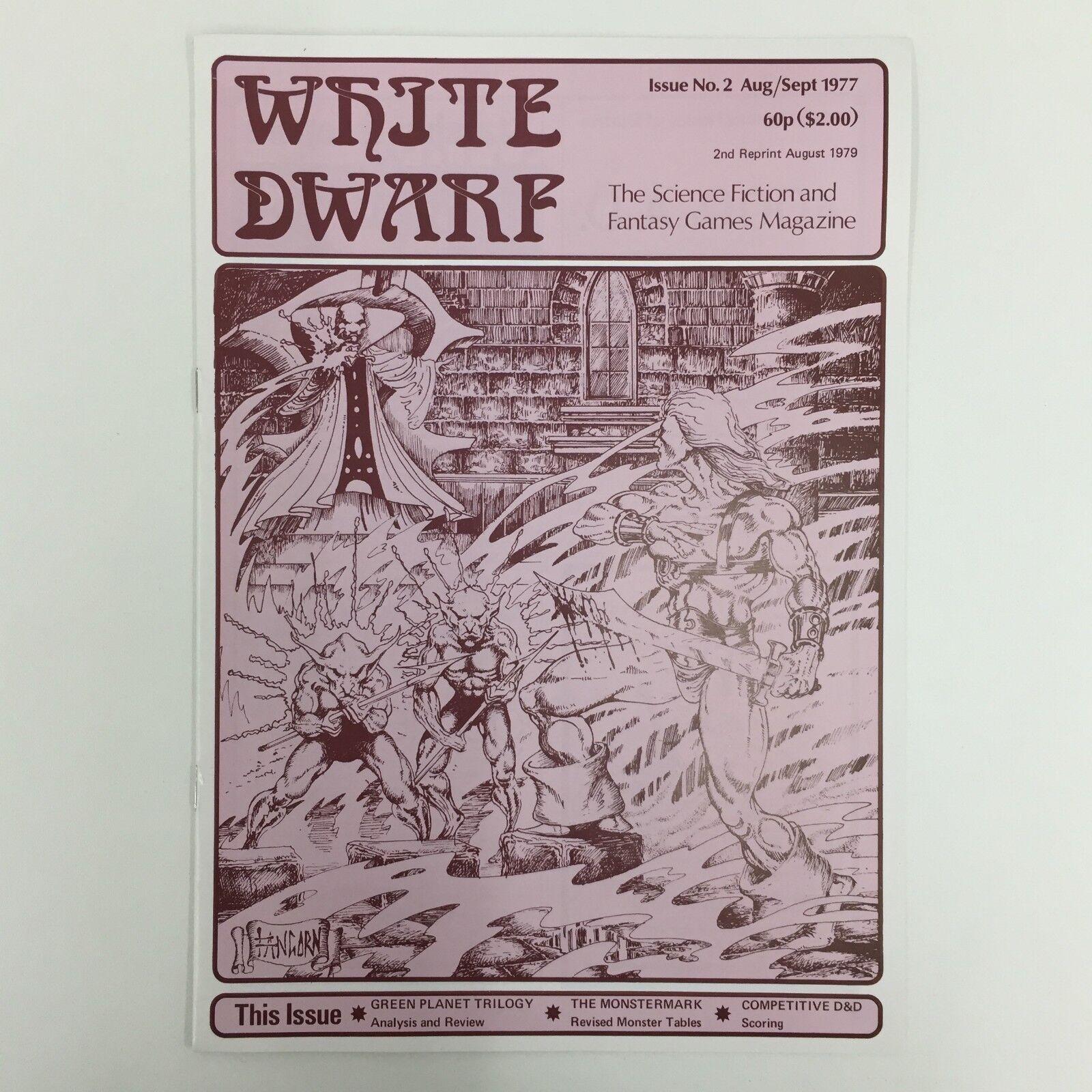 WHITE DWARF MAGAZINE ISSUE 2 2ND REPRINT 1979 GAMES WORKSHOP WARHAMMER D&D TSR