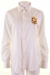 RALPH-LAUREN-SPORT-Womens-Shirt-US-14-XL-White-Cotton-Q122