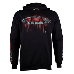 Badlands-Harley-Davidson-Men-039-s-Edge-Black-Pullover-Hoodie-Sweatshirt