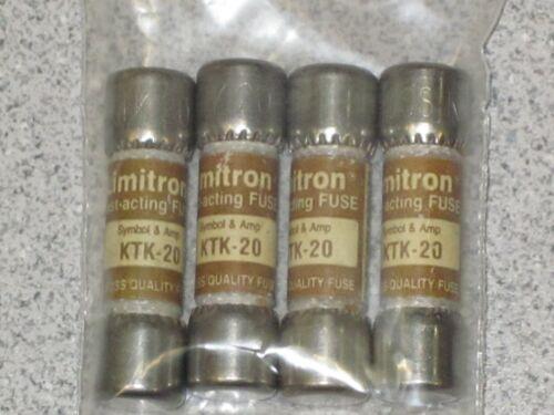 BUSSMAN//COOPER KTK-20 20A 600VAC FAST ACTING CARTRIDGE FUSES Details about  /4 LIMITRON