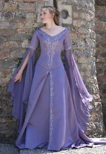 Exllent Medieval Wedding Dress LOTR Renaissance Fantasy Gown ...
