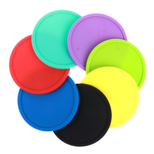 Round Silicone Insulation Coffee Drink Coaster Cup Mug Glass Beverage Pad Mat.