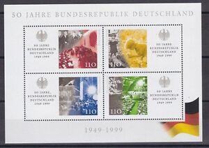 BRD-1999-postfrisch-MiNr-Block-49-50-Jahre-Bundesrepublik-Deutschland