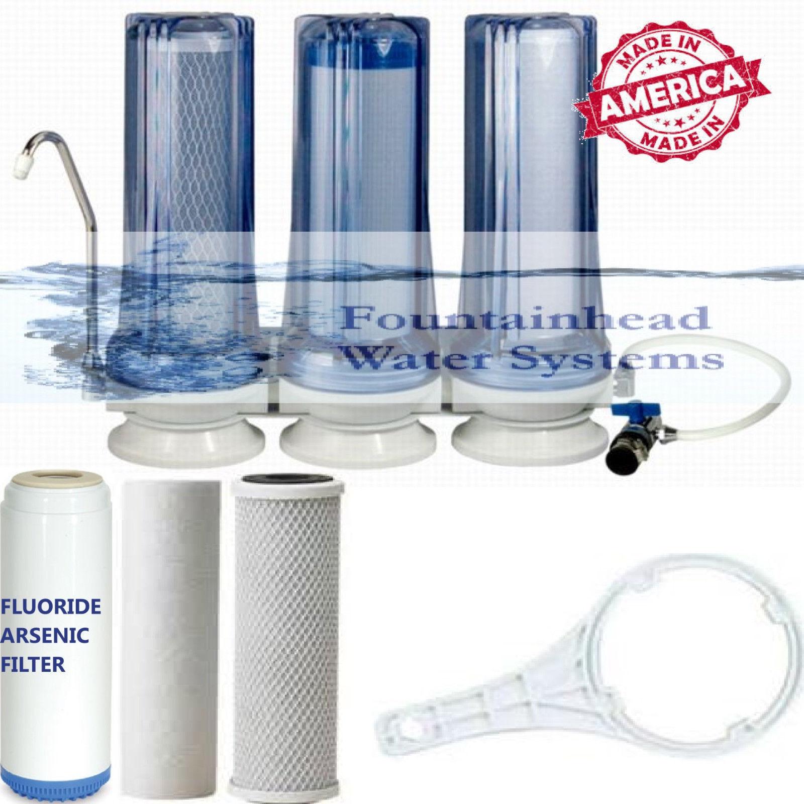 3 étape Comptoir Filtre à eau claire des Sédiments Fluorure carbone
