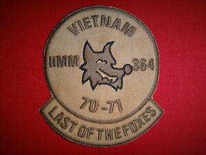 Usmc-Marina-HMM-364-034-Vietnam-70-71-Last-Of-The-Foxes-034-Guerra-Vietnam-Parche