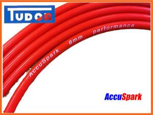 Silicona-HT-8mm-plomo-rojo-doble-Accuspark-Encendido-Cable-En-Rollo-se-vende-por-metro