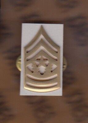 USA Enlisted Staff Sergeant SSG E-6 rank clutchback dress badge single c//b