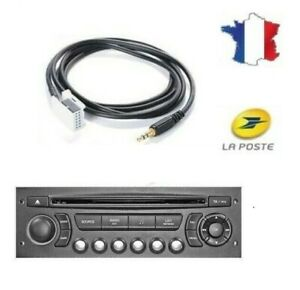 Câble AUXILIAIRE MP3 Jack 3.5 iPhone Android autoradio Citroen C8