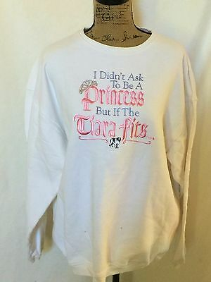 Big Dog Long Womens Large Sweatshirt with Embroidery L