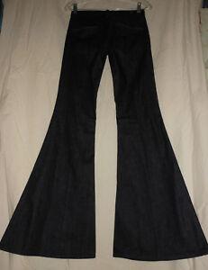 7-For-All-Mankind-USA-31-NEW-Dark-Denim-Bell-Bottom-Jeans-31X32-Boho-Hippie
