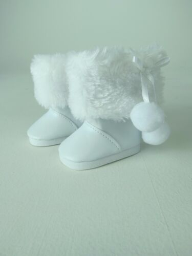 "White Fur Snow Boots Fits 18/"" American Girl Doll Clothes Shoes"