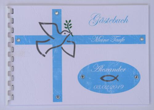 Gästebuch Taufe Konfirmation Hochzeit Jugendweihe Firmung DIN A5 quer Fotoalbum