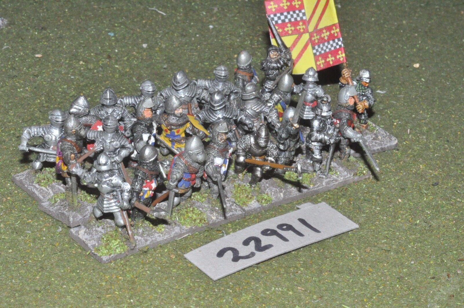 25mm medeltida   engelska - män vid armar 25 siffror - info (22991)