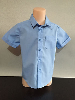 BNWT Boys//Girls Sz 8 Target Schoolwear Brand Sky Blue Short Sleeve Polo Top