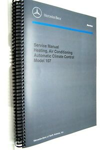 mercedes 450sl 560sl 380sl owners service manual air conditioning rh ebay com