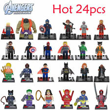 HOT 24 PCS The Avengers Wolverine Superman Hulk Batman Minifigures Building Toys