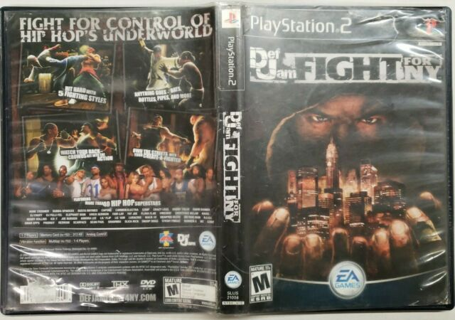 Def Jam: Fight for NY PlayStation 2 Black Label Rare PS2 French Manual
