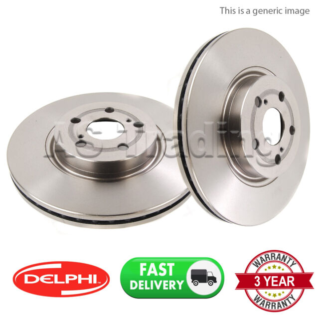 Genuine Delphi Rear Solid Brake Discs Set Pair BG2024