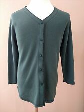 Victoria Secret Womens Sweater Cardigan Blouse V-Neck Button Down M Green EUC