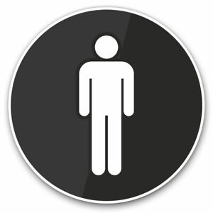 2-x-Vinyl-Stickers-7-5cm-Men-039-s-Toilet-Sign-Office-Cafe-Cool-Gift-7839
