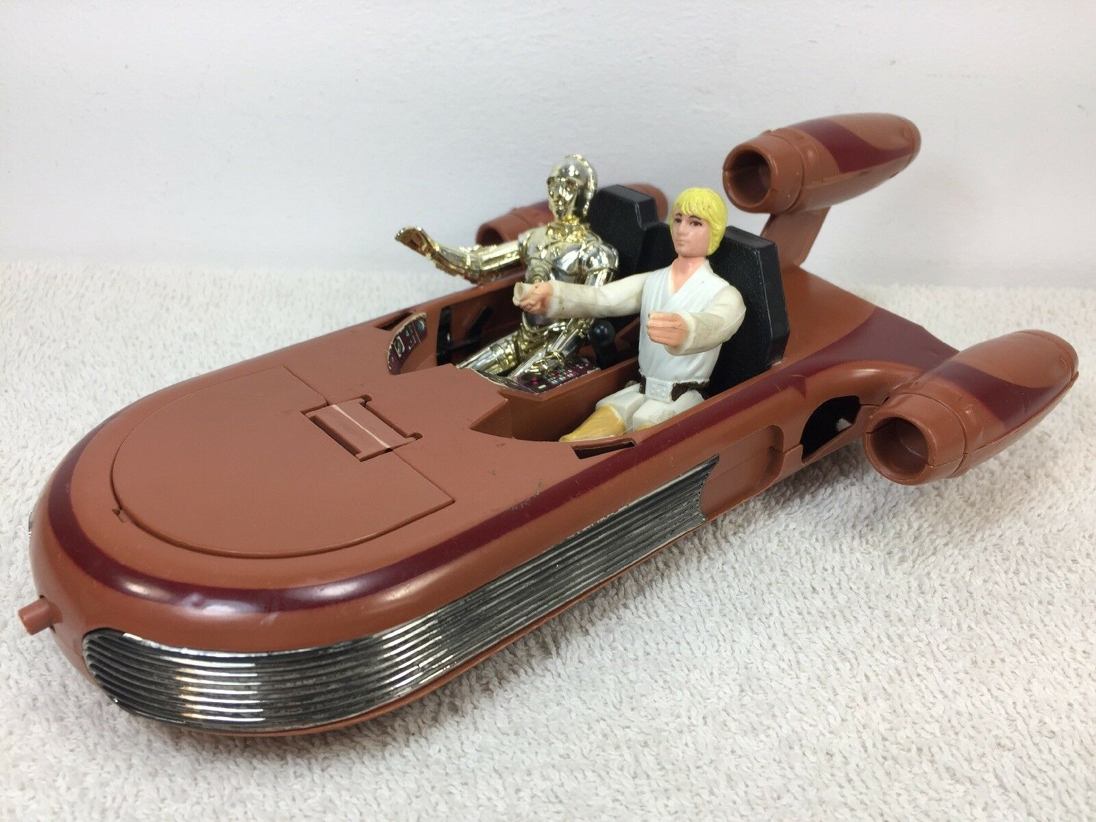 Vintage Star Wars ANH 1978 Landspeeder w Luke & C-3PO Kenner Read Description