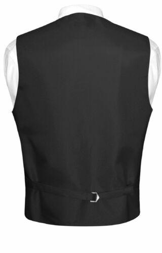 Men/'s Plaid Design Dress Vest BOWTie Black RED White BOW Tie Hanky Set Suit Tux