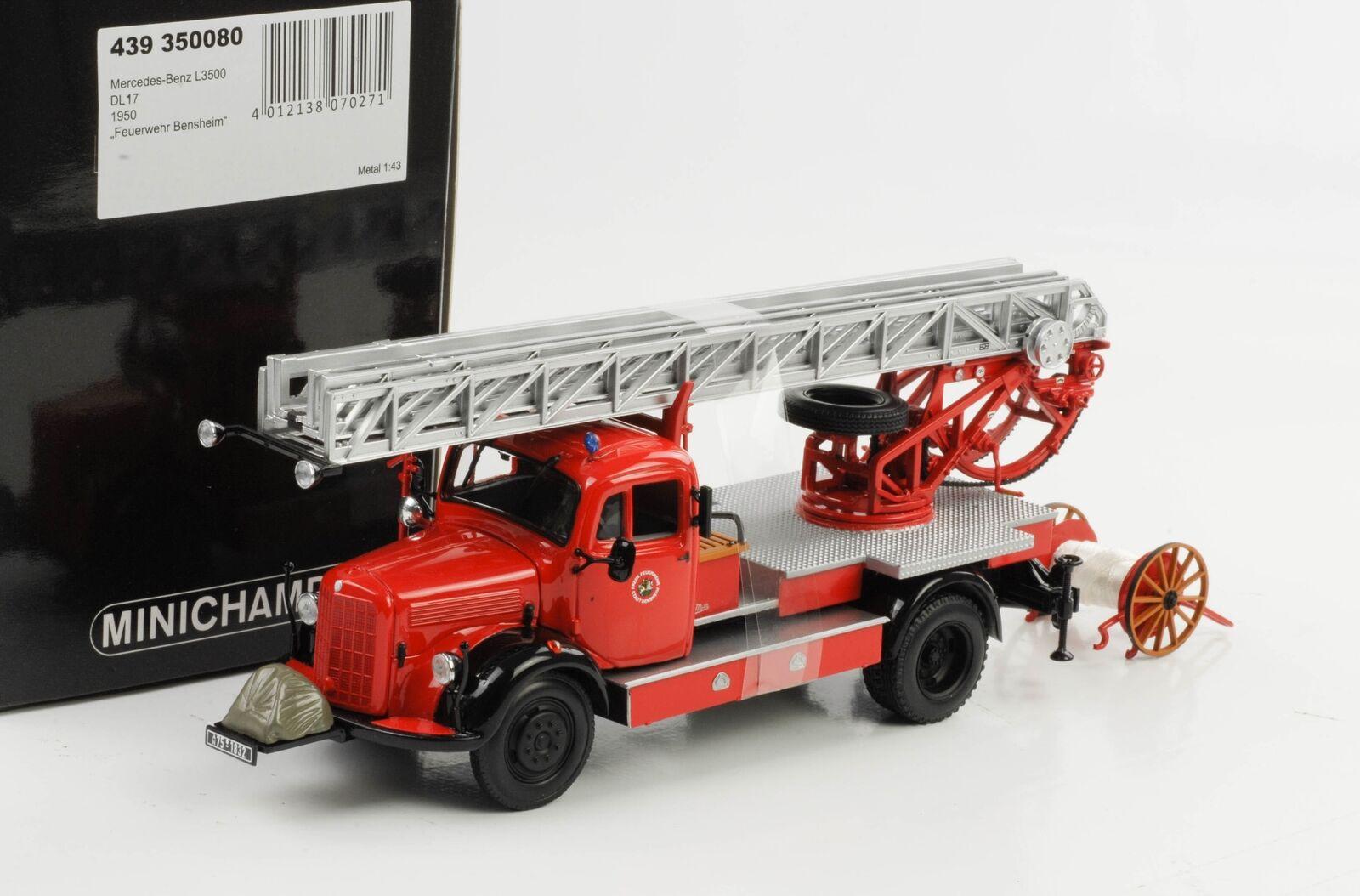 Mercedes BENZ L 3500 Dl 17 Fire Brigade Bensheim S 1 43