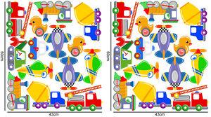 2-X-GRANDES-PLANCHES-STICKER-28-STICKERS-CHAMBRE-ENFANT-GARCON-PP001