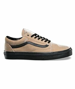 20796285ecf866 Image is loading Vans-Old-Skool-Velvet-Tan-Black-Men-039-
