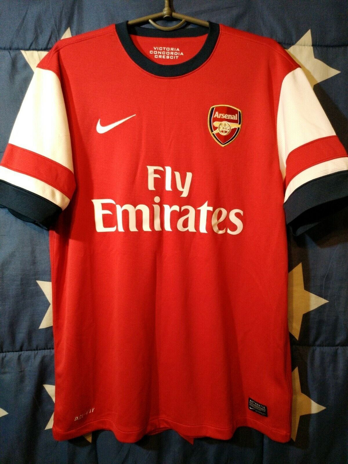 Talla M ARSENAL 2012-2014 HOME FOOTBALL SHIRT JERSEY