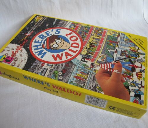 Where's Waldo Colorforms Stick-Ons Play Set 1990 Incomplete Outer Space