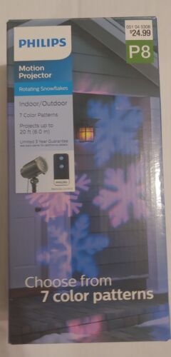 7 Colors Indoor NEW Philips LED Motion Projector Outdoor Remote Snowflakes