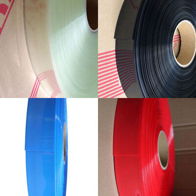 145mm-220mm PVC Heat Shrink Tubing Wrap Battery Pack LiPO NiMH NiCd All Colors