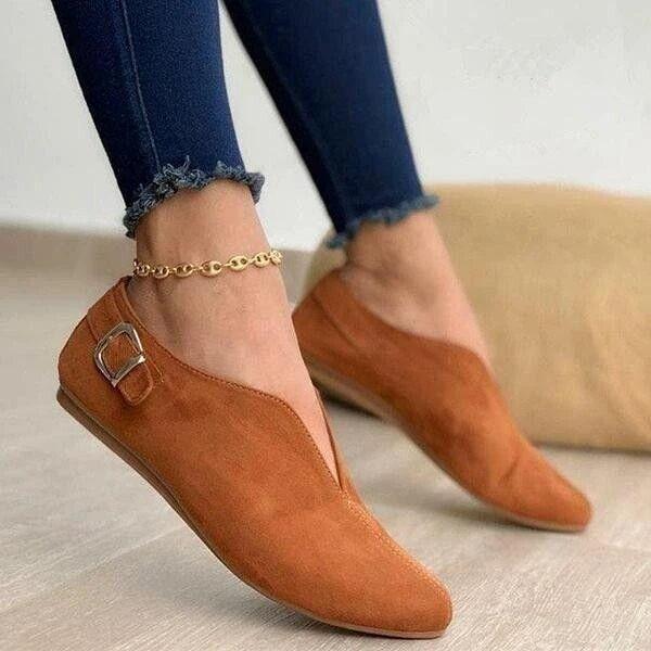 Bout Pointu Daim Femmes Flats Chaussures Femme Mocassins Summer Fashion Sweet Casual