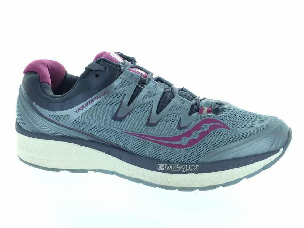 Women's Saucony Triumph ISO 4 S10413-1 Running Athletic shoes Fog Grey Purple