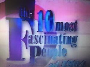 vhs prerecorded Blank NBC ABC 10 Most Fascinating People Bob Hope Washington 90s
