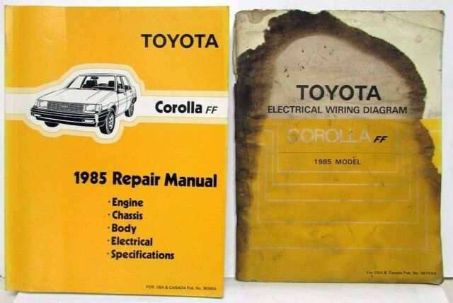 1985 Toyota Corolla Ff Shop Repair Manual  U0026 Electrical Wiring Diagram Manual