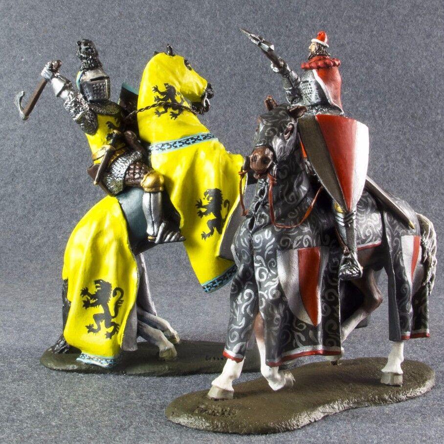 Medieval 1 32 Cavtuttieria Battaglia di Crema Dipinti Metal giocattolo Soldier 54mm