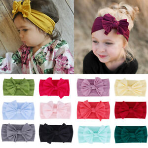 Infant-Stretch-Turban-Girls-Bow-Hairband-Baby-Nylon-Headband-Bowknot-Headwrap
