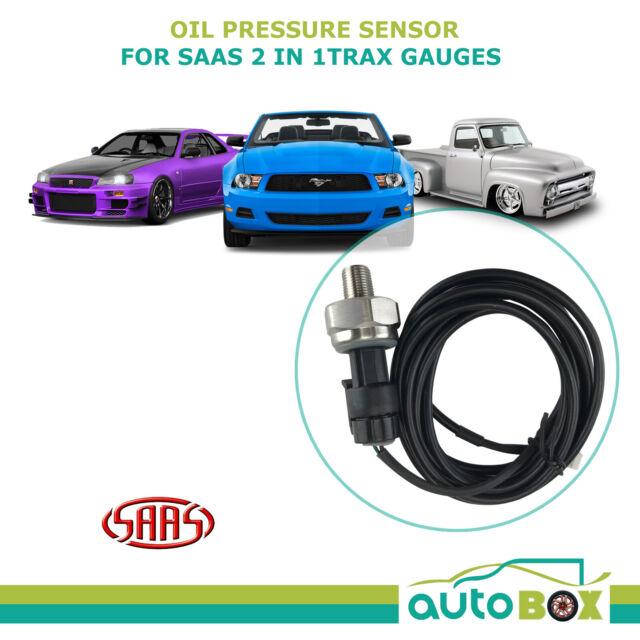 Oil Pressure Sensor for SAAS Trax Series Gauges 1/8 NPT Sender Unit SG61002