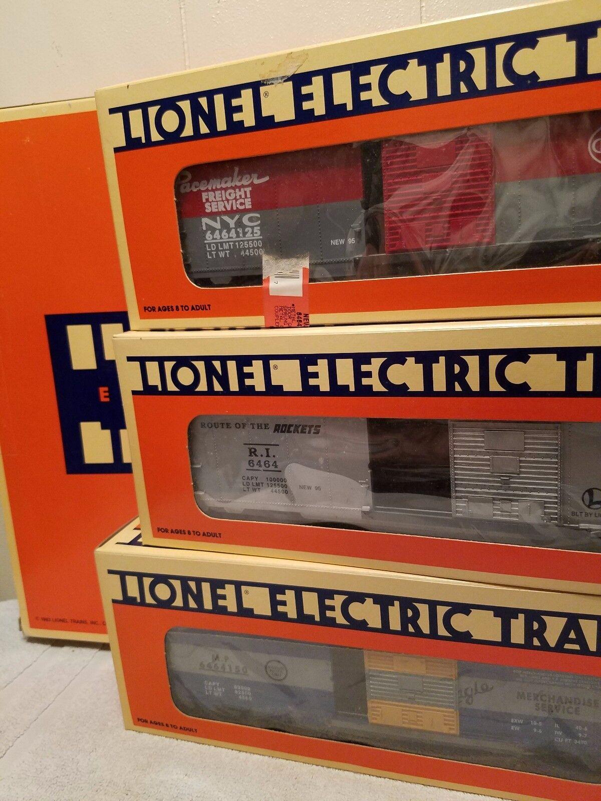Lionel 19266 -64644 lådabil, Serie 111 = 3 bilar, alla mint, i lådor