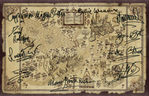 Details about Harry Potter-Wizarding World Map Signed*11  Autographs/Signatures* Dont Miss it !